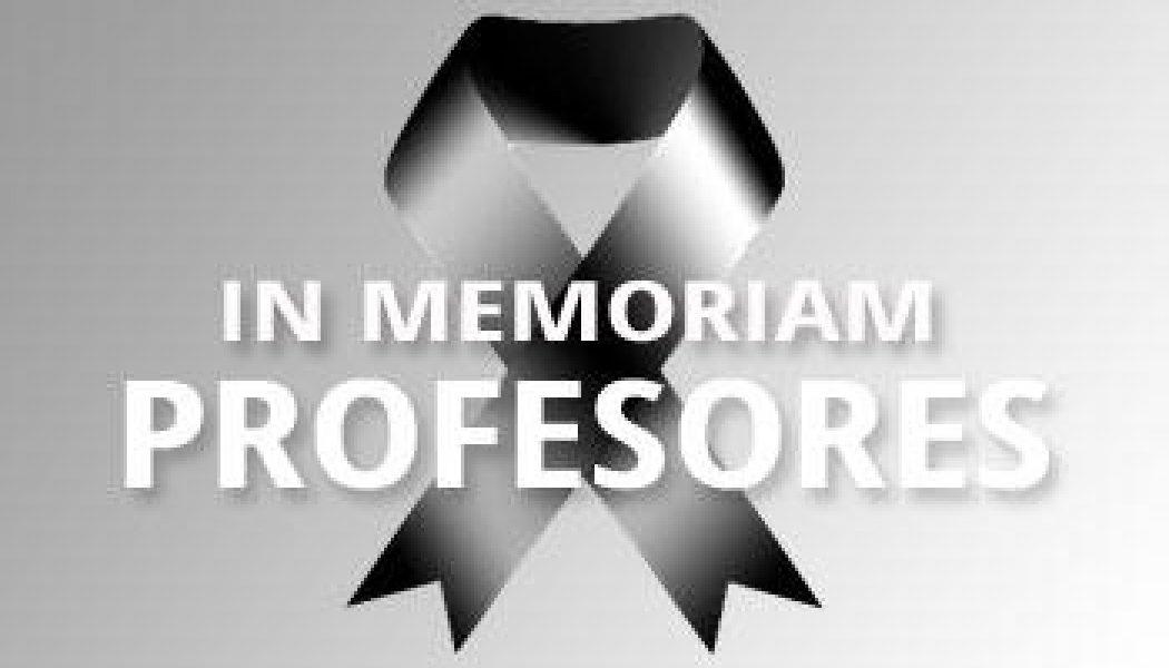 Profesores – In Memoriam