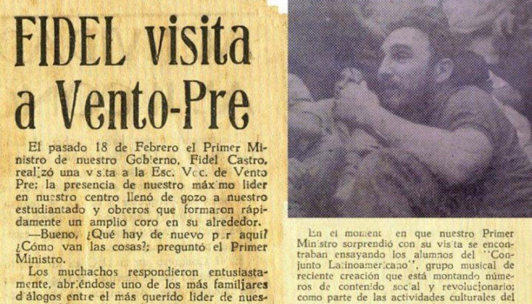 Fidel visita Vento Pre